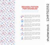 rehabilitation for disabled...   Shutterstock .eps vector #1249702552