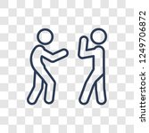 fighting icon. trendy linear...   Shutterstock .eps vector #1249706872