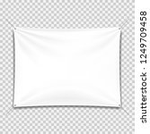 white textile banners with... | Shutterstock .eps vector #1249709458