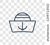 sailor cap icon. trendy linear... | Shutterstock .eps vector #1249713532