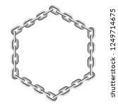 silver chain. hexagon frame....   Shutterstock .eps vector #1249714675