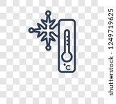 frost icon. trendy frost logo... | Shutterstock .eps vector #1249719625