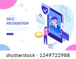 face recognition technology... | Shutterstock .eps vector #1249722988
