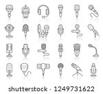 microphone thin line icons set. ...