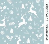 christmas seamless pattern with ... | Shutterstock .eps vector #1249732585