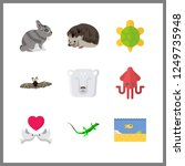 9 wildlife icon. vector... | Shutterstock .eps vector #1249735948