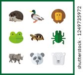 9 wildlife icon. vector... | Shutterstock .eps vector #1249735972