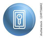 smartphone lock icon. outline...