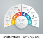 infographics design vector and... | Shutterstock .eps vector #1249739128