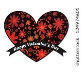 valentine s day card | Shutterstock .eps vector #124974605