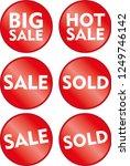 sale sold big sale hot sale red ... | Shutterstock .eps vector #1249746142