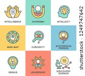 icons of human mental abilities.... | Shutterstock .eps vector #1249747642