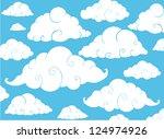 cloud background | Shutterstock .eps vector #124974926
