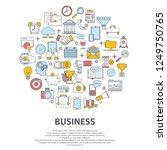 business centre vector concept. ... | Shutterstock .eps vector #1249750765