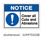 notice cover all cuts and... | Shutterstock .eps vector #1249752238