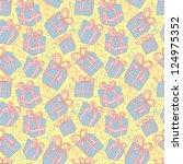 seamless festive vector... | Shutterstock .eps vector #124975352