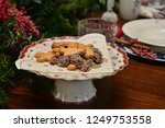 christmas food and ornaments | Shutterstock . vector #1249753558