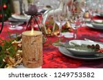 christmas food and ornaments | Shutterstock . vector #1249753582