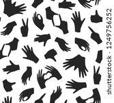 seamless monochrome pattern... | Shutterstock .eps vector #1249756252