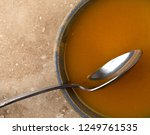 top view of a bowl of freshly... | Shutterstock . vector #1249761535