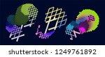abstract vector background dot... | Shutterstock .eps vector #1249761892