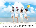 smiling group asian woman...   Shutterstock . vector #1249762225