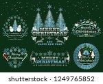 set of christmas badges labels  ... | Shutterstock .eps vector #1249765852