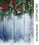 christmas background fir tree... | Shutterstock . vector #1249766785