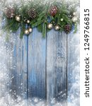 christmas background fir tree... | Shutterstock . vector #1249766815