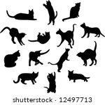 cats | Shutterstock .eps vector #12497713