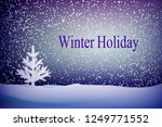 small christmas trees or young... | Shutterstock .eps vector #1249771552