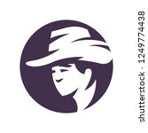 cowboy hat silhouette sign | Shutterstock .eps vector #1249774438