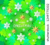 decorative christmas tree... | Shutterstock .eps vector #1249775332