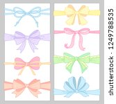 set of cute  color bows for... | Shutterstock .eps vector #1249788535