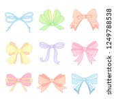 set of cute  color bows for... | Shutterstock .eps vector #1249788538