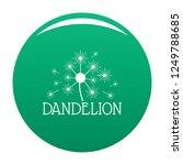 fluffy dandelion logo icon....   Shutterstock . vector #1249788685