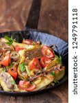 swabian maultasche with onions...   Shutterstock . vector #1249791118