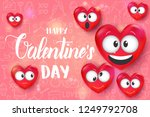 valentines day background with...   Shutterstock .eps vector #1249792708