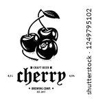 cherry  ripe fruits in black... | Shutterstock .eps vector #1249795102