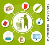 type of recycle object concept... | Shutterstock . vector #1249797058