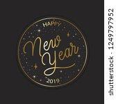 happy new year 2019   hand... | Shutterstock .eps vector #1249797952