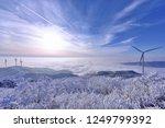 winter landscape with wind... | Shutterstock . vector #1249799392