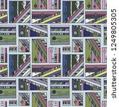 seamless vector pattern.... | Shutterstock .eps vector #1249805305