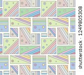 seamless vector pattern.... | Shutterstock .eps vector #1249805308