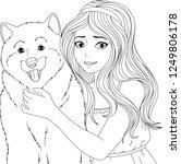 vector illustration coloring... | Shutterstock .eps vector #1249806178