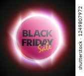 black friday sale ad round... | Shutterstock .eps vector #1249807972