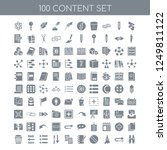100 content universal icons...   Shutterstock .eps vector #1249811122