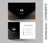 black  and gold modern business ... | Shutterstock .eps vector #1249828975