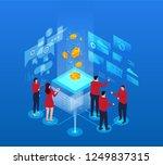 business finance technology work | Shutterstock .eps vector #1249837315