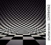 Black And White Checker. 3d...